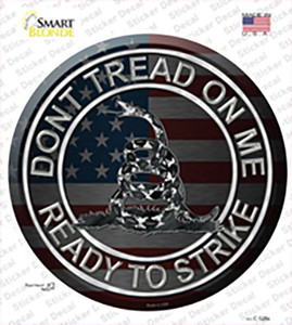 Dont Tread On Me Wholesale Novelty Circle Sticker Decal