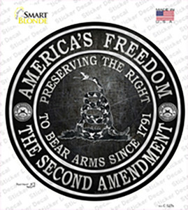 Americas Freedom Wholesale Novelty Circle Sticker Decal