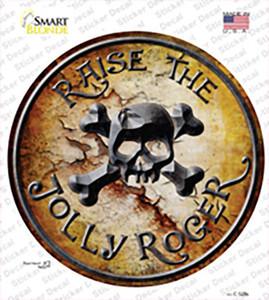 Raise The Jolly Roger Wholesale Novelty Circle Sticker Decal