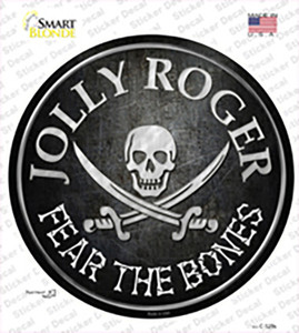 Fear The Bones Wholesale Novelty Circle Sticker Decal