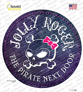 The Pirate Next Door Wholesale Novelty Circle Sticker Decal