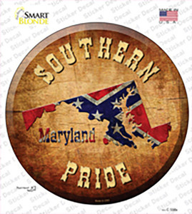 Southern Pride Maryland Wholesale Novelty Circle Sticker Decal
