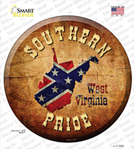 Southern Pride West Virginia Wholesale Novelty Circle Sticker Decal