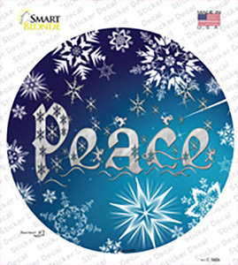 Peace Blue Wholesale Novelty Circle Sticker Decal