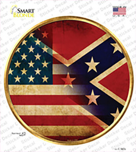 American Confederate Flag Wholesale Novelty Circle Sticker Decal