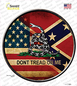 American Confederate Dont Tread On Me Wholesale Novelty Circle Sticker Decal