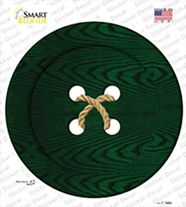 Green Button Wholesale Novelty Circle Sticker Decal