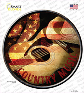 Country Music Wholesale Novelty Circle Sticker Decal