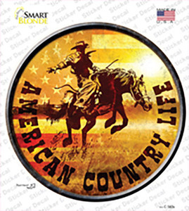 American Country Life Wholesale Novelty Circle Sticker Decal
