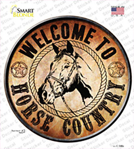 Horse Country Wholesale Novelty Circle Sticker Decal