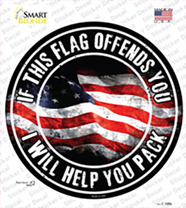 This Flag Offends You Wholesale Novelty Circle Sticker Decal