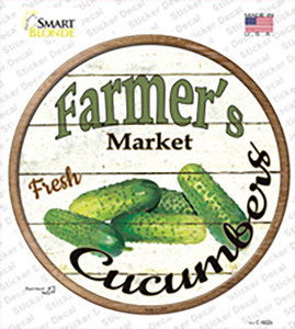 Farmers Market Cucumber Wholesale Novelty Circle Sticker Decal
