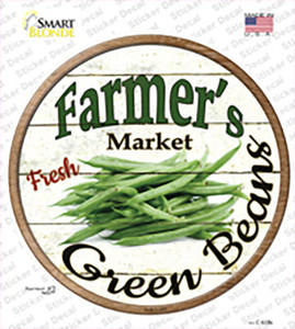 Farmers Market Green Beans Wholesale Novelty Circle Sticker Decal