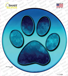 Paw Prints Wholesale Novelty Circle Sticker Decal