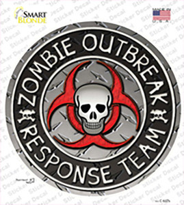 Zombie Outbreak Wholesale Novelty Circle Sticker Decal