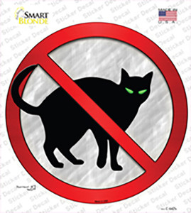 No Cats Wholesale Novelty Circle Sticker Decal