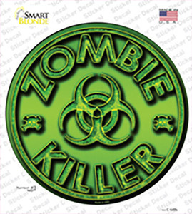 Zombie Killer Wholesale Novelty Circle Sticker Decal