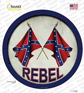 Rebel Wholesale Novelty Circle Sticker Decal