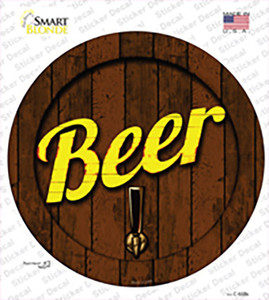 Beer Keg Tap Wholesale Novelty Circle Sticker Decal