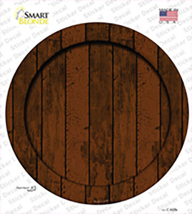 Wooden Background Wholesale Novelty Circle Sticker Decal