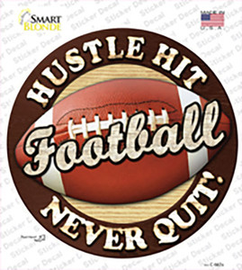 Football Wholesale Novelty Circle Sticker Decal