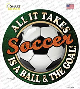 Soccer Wholesale Novelty Circle Sticker Decal