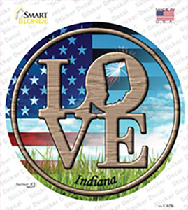 Love Indiana Wholesale Novelty Circle Sticker Decal