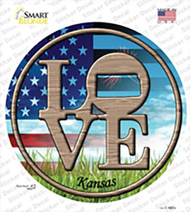 Love Kansas Wholesale Novelty Circle Sticker Decal