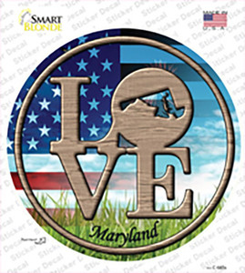 Love Maryland Wholesale Novelty Circle Sticker Decal