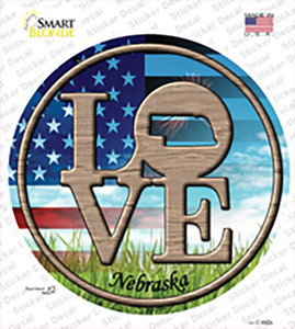 Love Nebraska Wholesale Novelty Circle Sticker Decal