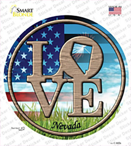 Love Nevada Wholesale Novelty Circle Sticker Decal
