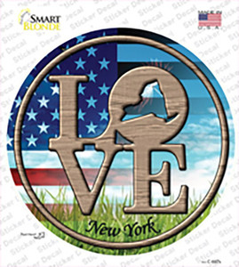 Love New York Wholesale Novelty Circle Sticker Decal