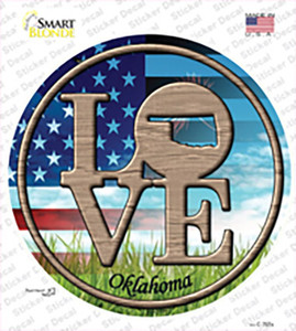 Love Oklahoma Wholesale Novelty Circle Sticker Decal