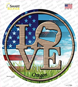 Love Oregon Wholesale Novelty Circle Sticker Decal