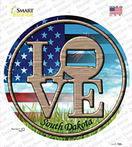 Love South Dakota Wholesale Novelty Circle Sticker Decal