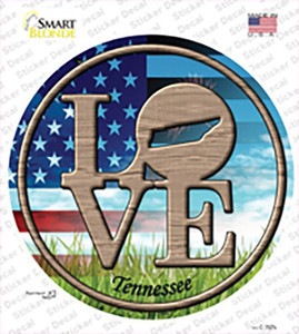 Love Tennessee Wholesale Novelty Circle Sticker Decal
