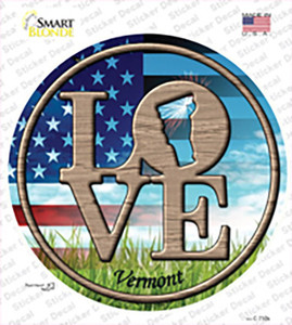 Love Vermont Wholesale Novelty Circle Sticker Decal