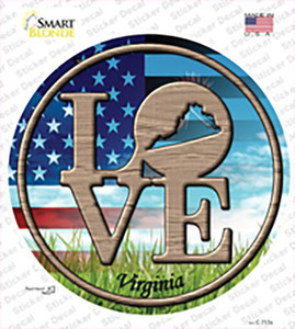 Love Virginia Wholesale Novelty Circle Sticker Decal