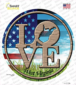 Love West Virginia Wholesale Novelty Circle Sticker Decal