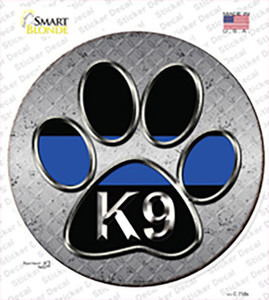 Paw Thin Blue Line K-9 Wholesale Novelty Circle Sticker Decal