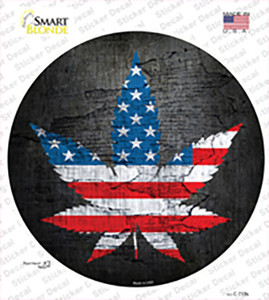 American Pot Wholesale Novelty Circle Sticker Decal