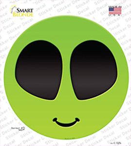 Alien Smile Face Wholesale Novelty Circle Sticker Decal