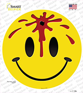Bullet Smile Wholesale Novelty Circle Sticker Decal