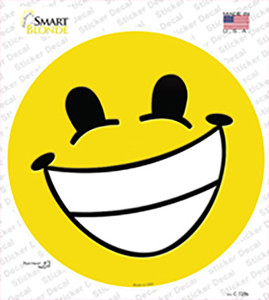 Cheesy Grin Wholesale Novelty Circle Sticker Decal
