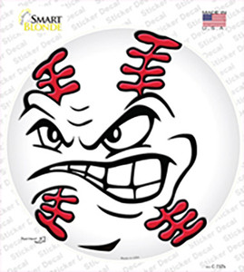 Angry Baseball Wholesale Novelty Circle Sticker Decal