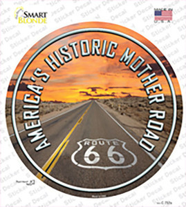 Mother Road Route 66 Wholesale Novelty Circle Sticker Decal
