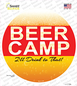 Beer Camp Wholesale Novelty Circle Sticker Decal