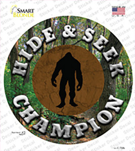 Hide and Seek Champion Bigfoot Wholesale Novelty Circle Sticker Decal