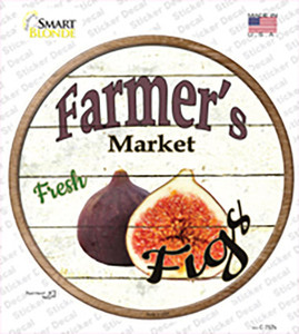 Farmers Market Figs Wholesale Novelty Circle Sticker Decal
