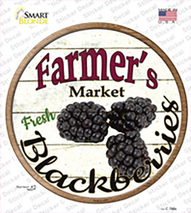Farmers Market Black Berries Wholesale Novelty Circle Sticker Decal